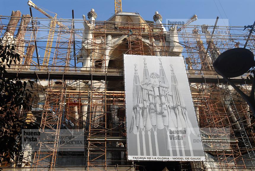 - Barcelona, yard for the completion of Sagrada Familia cathedral, planned by Antoni Gaudì architect ....- Barcellona, cantiere per il completamento della cattedrale della Sagrada Familia, progettata dall'architetto Antoni Gaudì....