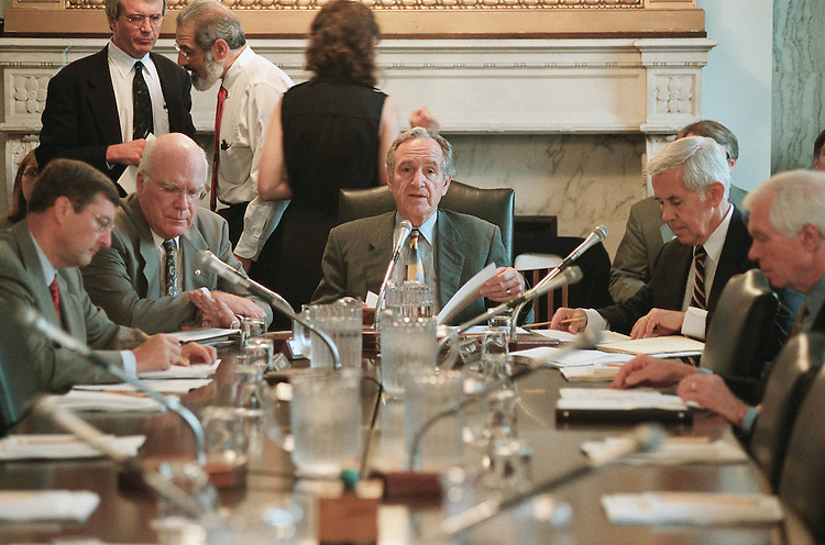7/25/01.EMERGENCY AGRICULTURAL ASSISTANCE ACT OF 2001--Senate Committee on Agriculture, Nutrition and Forestry Chairman Tom Harkin, D-Iowa, and members during the markup..CONGRESSIONAL QUARTERLY PHOTO BY SCOTT J. FERRELL