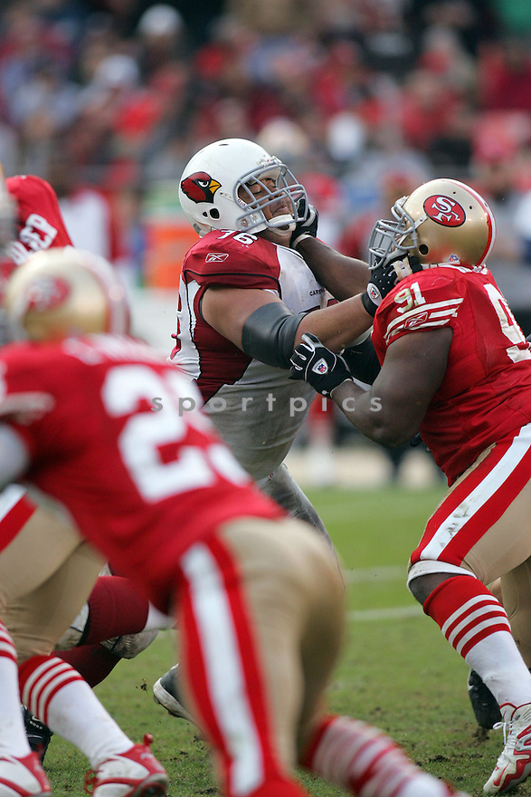 DUECE LUTUI, of the Arizona Cardinals during their game  against the San Francisco 49ers on December 24, 2006 in San Francisco, CA...Cardinals win 26-20....ROB HOLT/ SPORTPICS