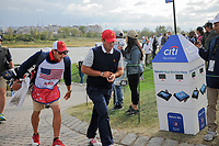 Patrick Reed (USA) makes his way to 15 during round 3 Four-Ball of the 2017 President's Cup, Liberty National Golf Club, Jersey City, New Jersey, USA. 9/30/2017.<br /> Picture: Golffile | Ken Murray<br /> <br /> All photo usage must carry mandatory copyright credit (&copy; Golffile | Ken Murray)