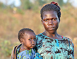 A woman and her daughter in Southern Sudan. NOTE: In July 2011, Southern Sudan became the independent country of South Sudan