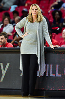 College Park, MD - NOV 21, 2017: Maryland Terrapins head coach Brenda Frese on the sidelines during the game between the Howard Lady Bison and the Maryland Terrapins at the XFINITY Center in College Park, MD.  (Photo by Phil Peters/Media Images International)