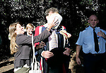 TV presenter Jeremy Clarskon is pied by protesters against his honorary degree at Brookes,Oxford. On the day of the degree ceremony.