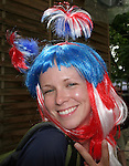 22 June 2006: A U.S. fan. Ghana played the United States at the Frankenstadion in Nuremberg, Germany in match 42, a Group E first round game, of the 2006 FIFA World Cup.