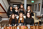 Chloe Carey from Tralee celebrating her 18th birthday in La Scala on Saturday night..<br /> Seated l to r: Shauna McElligott, Chloe Carey and Anna Shaughnessy<br /> Adeena Mohsin, Roisin Moriarty, Sabdh Stack and Sarah Jane Kirby.