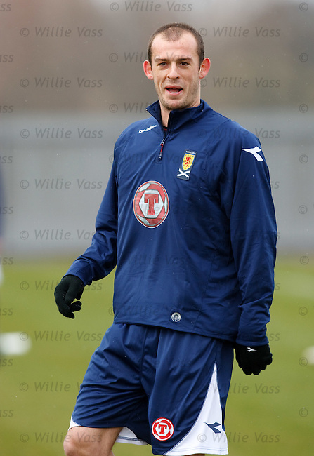 Steven Fletcher training with Scotland