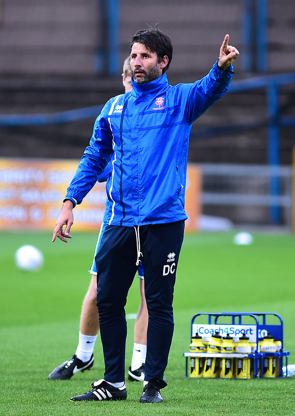 Lincoln City manager Danny Cowley during the pre-match warm-up <br /> <br /> Photographer Andrew Vaughan/CameraSport<br /> <br /> The EFL Checkatrade Trophy - Mansfield Town v Lincoln City - Tuesday 29th August 2017 - Field Mill - Mansfield<br />  <br /> World Copyright &copy; 2018 CameraSport. All rights reserved. 43 Linden Ave. Countesthorpe. Leicester. England. LE8 5PG - Tel: +44 (0) 116 277 4147 - admin@camerasport.com - www.camerasport.com