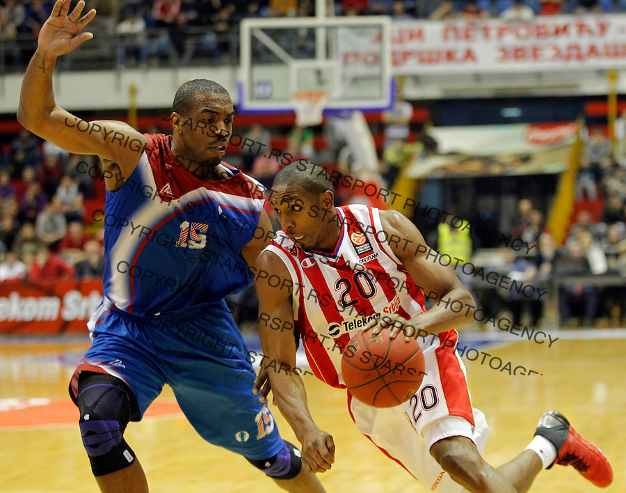 DeMarcus Nelson Eurocup basketball game between Crvena Zvezda and Panionios in Pionir Arena on January 22, 2014. in Belgrade, Serbia (credit image & photo: Pedja Milosavljevic / STARSPORT / +318 64 1260 959 / thepedja@gmail.com)