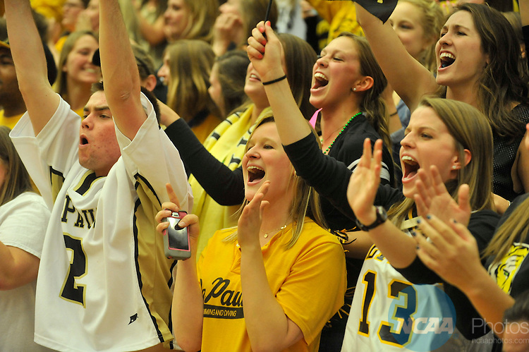 16 MAR 2013:  DePauw University takes on the University of Wisconsin-Whitewater during the Division III Women's Basketball Championship held at the DeVos Fieldhouse in Holland, MI.  DePauw defeated Whitewater 69-51 for the national title.  Erik Holladay/NCAA Photos..