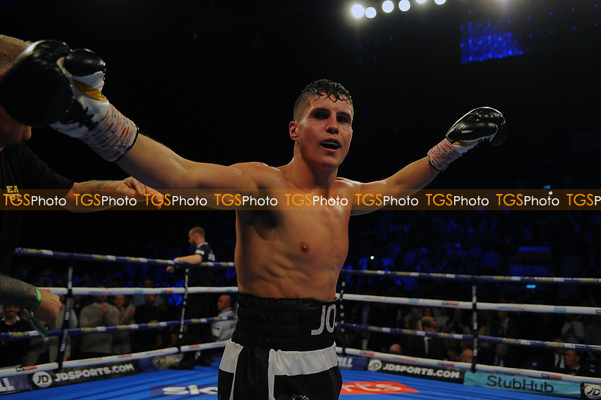 Joseph Laws defeats Chris Truman during a Boxing Show at the Metro Radio Arena on 13th October 2018