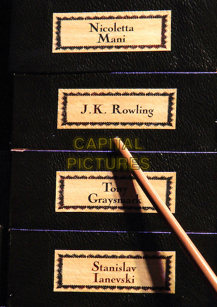 Atmosphere .'Warners Bros Studio Tour - The Making of Harry Potter' at Leavesden Studios, Watford, Hertfordhire, England..March 29th 2012.gv general view set film wand magic names jk rowling pointing .CAP/JIL.©Jill Mayhew/Capital Pictures