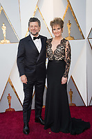 Andy Serkis and Lorraine Ashbourne arrive the live ABC Telecast of The 90th Oscars&reg; at the Dolby&reg; Theatre in Hollywood, CA on Sunday, March 4, 2018.<br /> *Editorial Use Only*<br /> CAP/PLF/AMPAS<br /> Supplied by Capital Pictures