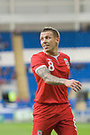Craig Bellamy of Wales during the Wales v Norway Vauxhall international friendly match at the Cardiff City Stadium in South Wales..Editorial use only.