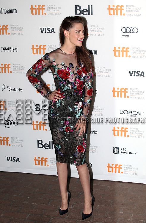 Kristen Stewart attending the The 2012 Toronto International Film Festival Red Carpet Arrivals for 'On The Road' at the Ryerson Theatre in Toronto on 9/6/2012