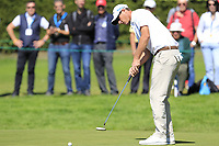 Nicolas Colsaerts (BEL) putts on the 8th green during Saturday's Round 3 of the 2018 Omega European Masters, held at the Golf Club Crans-Sur-Sierre, Crans Montana, Switzerland. 8th September 2018.<br /> Picture: Eoin Clarke | Golffile<br /> <br /> <br /> All photos usage must carry mandatory copyright credit (&copy; Golffile | Eoin Clarke)