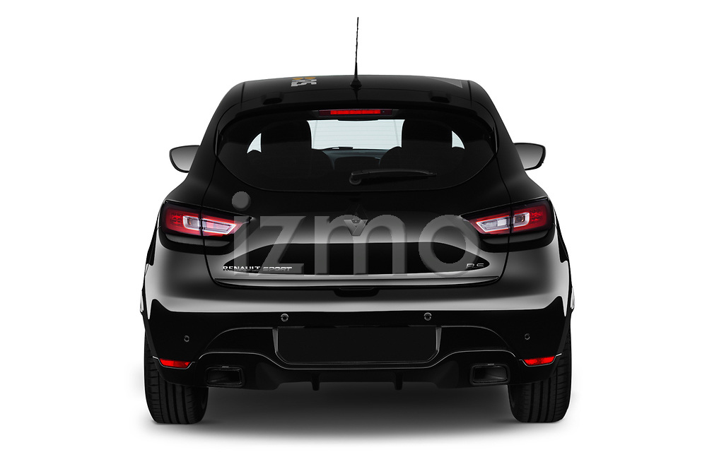 Straight rear view of a 2018 Renault Clio RS Final Edition 5 Door Hatchback stock images
