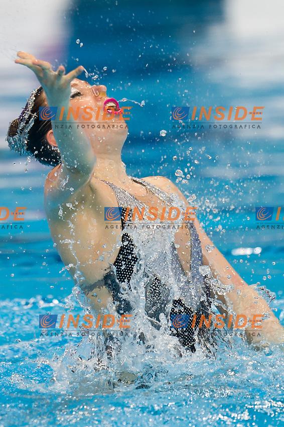 HANNULA FIN<br /> London, Queen Elizabeth II Olympic Park Pool <br /> LEN 2016 European Aquatics Elite Championships <br /> Synchro<br /> Solo Technical final <br /> Day 04 12-05-2016<br /> Photo Giorgio Perottino/Deepbluemedia/Insidefoto