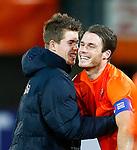 Nederland, Rotterdam, 15 oktober 2012.Interland.Jong Oranje-Jong Slowakije (2-0).Marco van Ginkel en aanvoerder Bram Nuytinck van Jong Oranje zijn blij na afloop van de wedstrijd