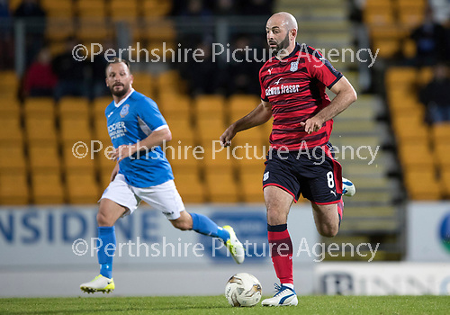 Dave Mackay Testimonial: St Johnstone v Dundee&hellip;06.10.17&hellip;  McDiarmid Park&hellip; <br />Gary Harkins and Jody Morris<br />Picture by Graeme Hart. <br />Copyright Perthshire Picture Agency<br />Tel: 01738 623350  Mobile: 07990 594431