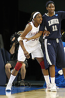 SACRAMENTO, CA - MARCH 29: Nnemkadi Ogwumike during Stanford's 55-53 win over Xavier in the NCAA Women's Basketball Championship Elite Eight on March 29, 2010 at Arco Arena in Sacramento, California.
