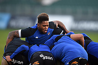 Levi Douglas of Bath United in action during the pre-match warm-up. Premiership Rugby Shield match, between Bath United and Gloucester United on April 8, 2019 at the Recreation Ground in Bath, England. Photo by: Patrick Khachfe / Onside Images