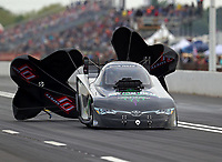 Apr 20, 2018; Baytown, TX, USA; NHRA funny car driver Richard Townsend during qualifying for the Springnationals at Royal Purple Raceway. Mandatory Credit: Mark J. Rebilas-USA TODAY Sports