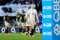 Mike Brown of England looks dejected after losing the QBE International match between England and South Africa at Twickenham Stadium on Saturday 15th November 2014 (Photo by Rob Munro)