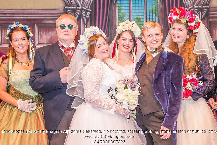Alan Borthwick's production of Engaged. Written by WS Gilbert & composed by Arthur Sullivan. Musical Director David Lyle. Performed at 19:30 Friday 11 August 2017 in the Royal Hall, Harrogate. 24th International Gilbert & Sullivan Festival, Harrogate, North Yorkshire 04-20 August 2017 Photo by Jane Stokes