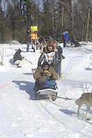 Louis Nelson, Sr. Anchorage Start Iditarod 2008.