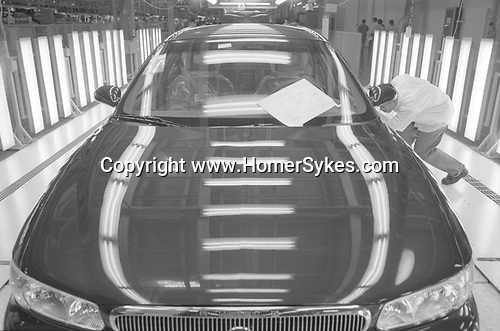 The Peoples Republic of China. Shanghai. 2000.  One of the 250 Buick cars that daily come off the production line at the New Century plant in Pudong.  This state-of-the-art factory went into production in April 1999 as part of a joint venture between General Motors of America and the Shanghai Automotive Industry Corporation (SAIC) to produce upmarket cars for the Chinese domestic market.