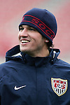 18 February 2006,  Santino Quaranta of the MLS D.C. United during national team practice.  The USA Mens National soccer team held a practice session in freezing weather at Pizza Hut Park, Frisco, Texas in preparation for their international friendly match against Guatemala the next day..---LIVE IMAGE---