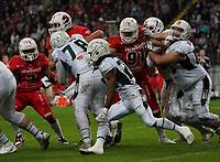 RB Jerome Manyema(Schwäbisch Hall Unicorns) setzt sich durch - 12.10.2019: German Bowl XLI Braunschweig Lions vs. Schwäbisch Hall Unicorns, Commerzbank Arena Frankfurt