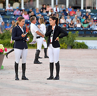 WELLINGTION, FL - MARCH 09: SATURDAY NIGHT LIGHTS: Laura Kraut, Jessica Springsteen participates The highlight event of week 9 at the 2019 Winter Equestrian Festival, the $391,000 Douglas Elliman Real Estate Grand Prix CSI 5*. The Winter Equestrian Festival (WEF) is the largest, longest running hunter/jumper equestrian event in the world held at the Palm Beach International Equestrian Center on March 09, 2019  in Wellington, Florida.Me.com / MediaPunch<br /> CAP/MPI122<br /> &copy;MPI122/Capital Pictures