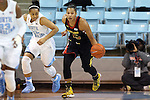 05 January 2014: Maryland's Alyssa Thomas (25) and North Carolina's Allisha Gray (15). The University of North Carolina Tar Heels played the University of Maryland Terrapins in an NCAA Division I women's basketball game at Carmichael Arena in Chapel Hill, North Carolina. Maryland won the game 79-70.