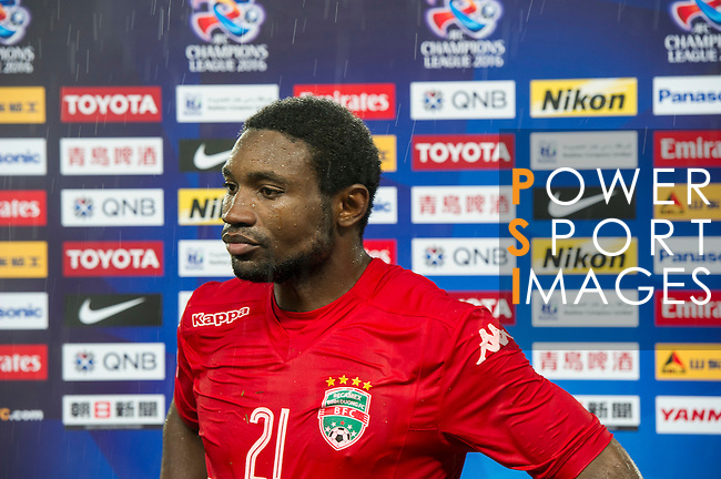 A Becamex Binh Duong player (VIE) is being interviewed after the match Jiangsu Sainty (CHN) vs Becamex Binh Duong (VIE) during their AFC Champions League Group E match on 20 April 2016 at the Olympic Sports Centre in Nanjing, China. Photo by Lucas Schifres / Power Sport Images