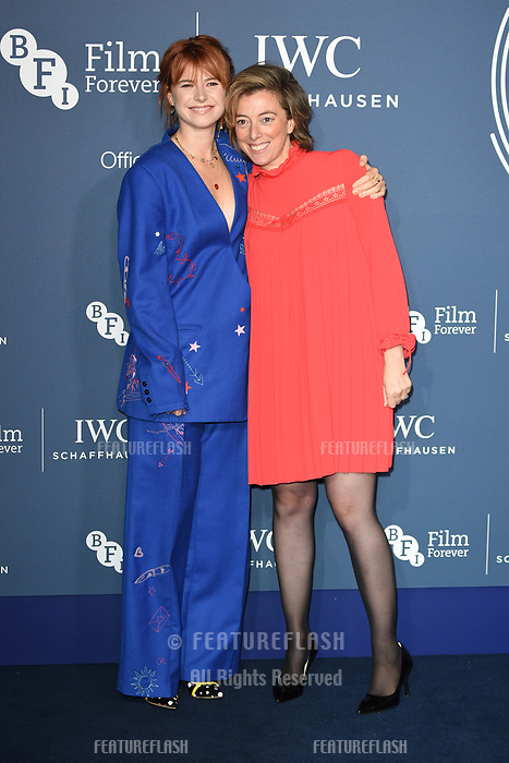 LONDON, UK. October 09, 2018: Jessie Buckley & Nicole Taylor arriving for the 2018 IWC Schaffhausen Gala Dinner in Honour of the BFI at the Electric Light Station, London.<br /> Picture: Steve Vas/Featureflash