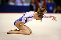 Oct 16, 2006; Aarhus, Denmark; Sandra Izbasa of Romania floor exercise closeup of dance during women's gymnastics team competition at 2006 World Championships Artistic Gymnastics.