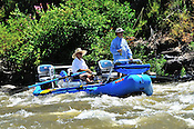 Fishermen & Women floating the Upper Colorado River fishing between Rancho Del Rio and State Bridge on August 2, 2014.