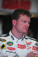 Feb 13, 2008; Daytona Beach, FL, USA; Nascar Sprint Cup Series driver Dale Earnhardt Jr (88) during practice for the Daytona 500 at Daytona International Speedway. Mandatory Credit: Mark J. Rebilas-US PRESSWIRE
