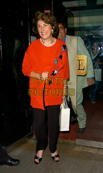 """EDWINA CURRIE.""""The Beautiful Game"""" football party, Embassy Club, London, UK..June 19th, 2006.Ref: CAN.full length black bag red cardigan trousers.www.capitalpictures.com.sales@capitalpictures.com.©Capital Pictures"""