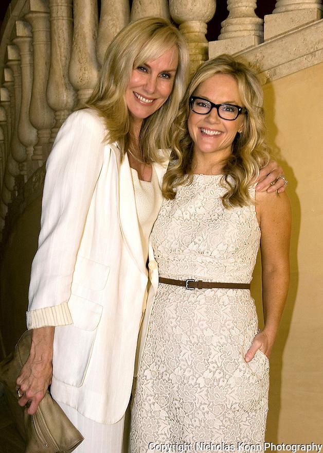 Rachelle Carson Bagley and Rachael Harris at an Oceana fundraiser in Laguna Beach on 7/29/12.....