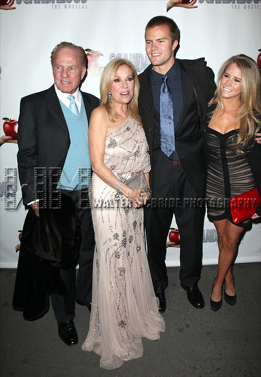 Frank Gifford, Kathie Lee Gifford, Cody Gifford and Cassidy Erin Gifford attending the Broadway Opening Night Performance After Party for 'Scandalous The Musical' at the Neil Simon Theatre in New York City on 11/15/2012
