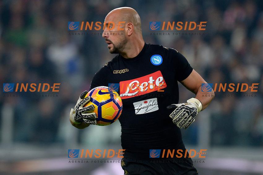 Pepe Reina Napoli <br /> Torino 29-10-2016 Juventus Stadium Football Calcio Serie A 2016/2017 Juventus - Napoli . Foto Filippo Alfero Insidefoto
