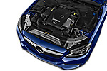 Car Stock 2017 Mercedes Benz C-Class - 2 Door Convertible Engine  high angle detail view