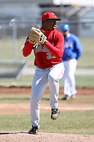 April 5, 2009:  /rp/ Perci Garner (33) of the Ball State Cardinals during a game at Amherst Audubon Field in Buffalo, NY.  Photo by:  Mike Janes/Four Seam Images