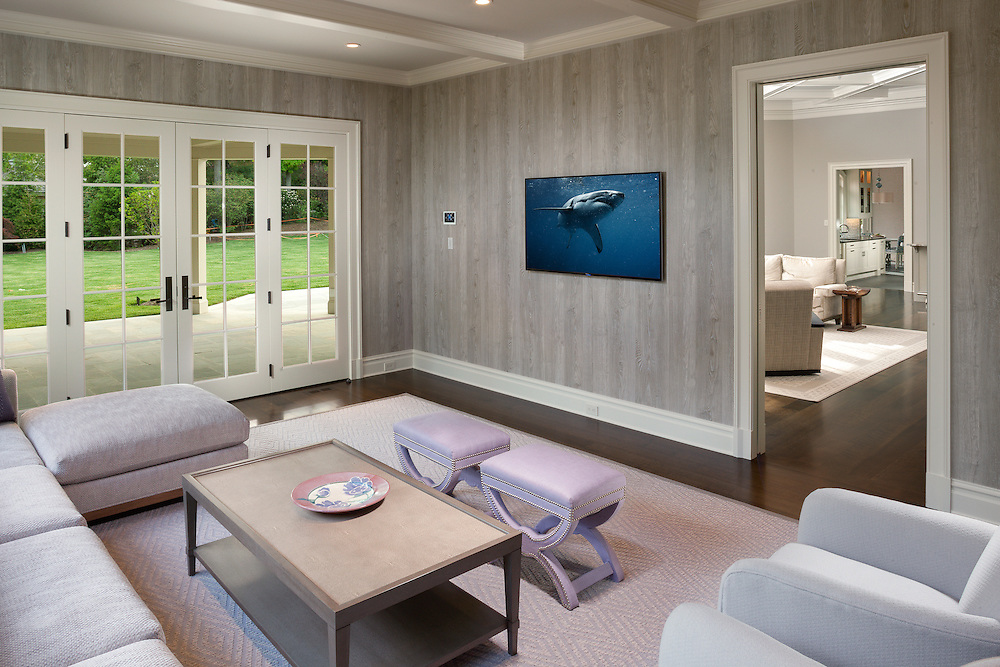 Family Room with Mounted TV