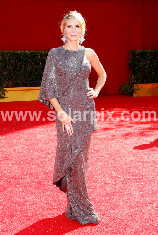 **ALL ROUND PICTURES FROM SOLARPIX.COM**.**SYNDICATION RIGHTS FOR UK, SPAIN, PORTUGAL, AUSTRALIA, S.AFRICA & DUBAI (U.A.E) ONLY**.Arrivals for the 60th Primetime EMMY Awards held at Nokia Theatre, Los Angeles, California, USA. 21st September 2008..This pic: Heidi Klum..JOB REF: 7431 PHZ (Albert L. Ortega)  .DATE: 21_09_2008.**MUST CREDIT SOLARPIX.COM OR DOUBLE FEE WILL BE CHARGED* *UNDER NO CIRCUMSTANCES IS THIS IMAGE TO BE REPRODUCED FOR ANY ONLINE EDITION WITHOUT PRIOR PERMISSION*