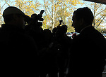 Connecticut Governor Dannel P. Malloy, talks to reporters about the power situation  in front of a shelter at the LP Wilson Community Center in Windsor Conn., Tuesday, Nov. 1, 2011.  Malloy toured the shelter telling the 300 people staying there that everything possible is being done to restore power.  The unseasonably early nor'easter Saturday had utility companies struggling to restore electricity to more than 3 million homes and businesses. in the northeast.  (Jim Michaud/Journal Inquirer)