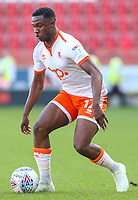 Blackpool's Viv Solomon-Otabor in possession<br /> <br /> Photographer Alex Dodd/CameraSport<br /> <br /> The EFL Sky Bet League One - Rotherham United v Blackpool - Saturday 5th May 2018 - New York Stadium - Rotherham<br /> <br /> World Copyright &copy; 2018 CameraSport. All rights reserved. 43 Linden Ave. Countesthorpe. Leicester. England. LE8 5PG - Tel: +44 (0) 116 277 4147 - admin@camerasport.com - www.camerasport.com