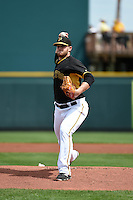 Pittsburgh Pirates pitcher Casey Sadler (65) during a Spring Training game against the Minnesota Twins on March 13, 2015 at McKechnie Field in Bradenton, Florida.  Minnesota defeated Pittsburgh 8-3.  (Mike Janes/Four Seam Images)